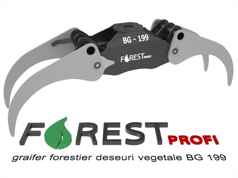 Graifer forestier deseuri vegetale SP 199